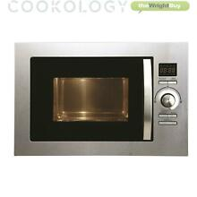 Cookology Stainless Steel Built in Combi Microwave Oven   Grill Integrated 25L