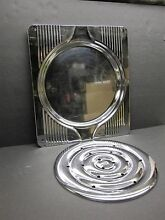 VINTAGE ART DECO CHROME BROILER ROASTING PAN AND CHROME GRILL