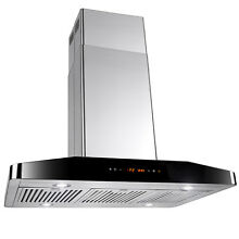 36  Stainless Steel Island Mount Range Hood Touch Screen Panel Cooking Fan