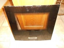 USED THERMADOR C271US OVEN DOOR BLACK GLASS from part   16 10 049 03