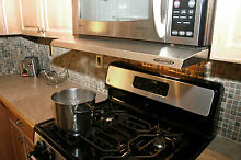 Microvisorhood  mini hood extension for microwave over the range Stainless Steel