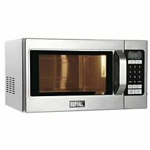 Buffalo Programmable Commercial Microwave Oven 1100W Stainless Steel Silver