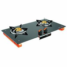 Vidiem Air Plus Cooktop Glass Top Range Black Gas Stove