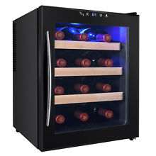 12 Bottle Wine Chiller Cooler Cellar Fridge Thermoelectric Temperature Control