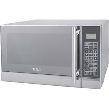 RCA 0 7 cu ft Microwave Oven 10 Power Levels Stainless Steel Silver   New