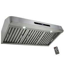 30  Under Cabinet Brushed Stainless Steel Touch Panel Kitchen Range Hood Fan