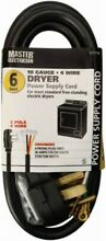Apollo  09156ME ME6 apos  10 4BLK Dryer Cord No 09156ME  3PK