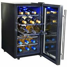 18 Bottle Wine Cooler Refrigerator Cellar Thermoelectric Stainless Bar Fridge