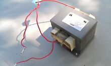 5OO99 LG GCRT2010T MICROWAVE OVEN TRANSFORMER  0 4 OHM PRIMARY  0 1 OHM SECOND