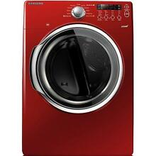 Samsung DV331AER 27  Red Front Load Electric Steam Dryer NIB  9721