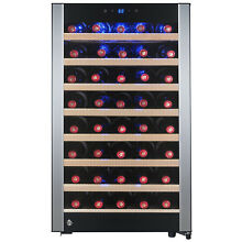 Dual Zone Freestanding 45 Bottle Compressor Electric Wine Cooler Refrigerator