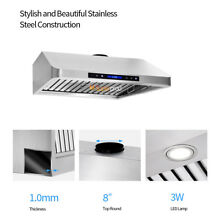 Luxury Stainless Steel 30  Range Hood Under Cabinet Oily W Remote Touch Clock
