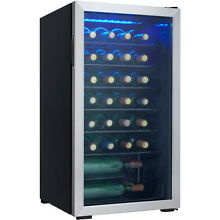 Danby 36 Bottle Wine Cooler  Black and Stainless Steel