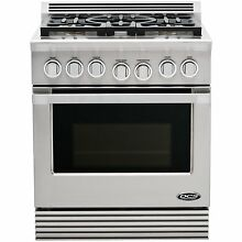 DCS RDU305L Professional Series 30  Stainless Pro Style Dual Fuel Range