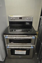 Maytag MET8820DS 30  Stainless Electric Double Oven Range NOB T 2 CLW  14464