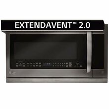 LG 2 2CuFt Over the Range Microwave Oven in Black Stainless Steel