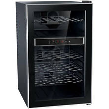 Sunpentown 24 Bottle Dual Zone ThermoElectric Wine Cooler with Heating  Metal