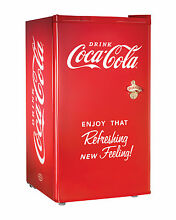 Nostalgia Coca Cola Series RRF300SDBCOKE 3 2 Cubic Foot Refrigerator with Freez