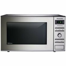 Panasonic Genius Prestige 0 8 Cubic Feet 950 Watt Inverter Microwave  Stainless