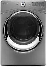 Whirlpool WGD88HEAC 27  Chrome Shadow Gas Dryer 7 4 CuFt  NIB  4653 MNB