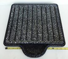 Vintage Antique Unused Range Stove Speckled Enamel Broiler Pan Tray Assembly