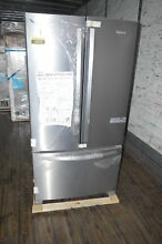 Whirlpool WRF555SDFZ 36  Stainless French Door Refrigerator NOB  16073 T2