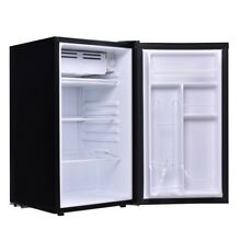 Black Mini Compact Refrigerator Small Fridge Dorm Cooler Beverage Freezer