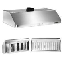 48  Stainless Steel Kitchen Cooking Range Hood 900 CFM Finger Touch Control US