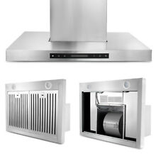 36  Kitchen Wall Mounted Stainless Steel Range Hood Ventilation Hoods 700CFM US