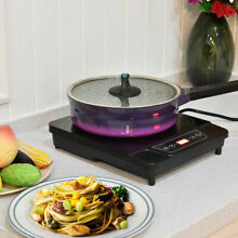 1800W Electric Induction Cooktop Cooker Countertop Burner Digital Portable Black