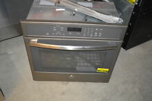 GE PT7050EHES 30  Slate Single Electric Wall Oven NOB  19571