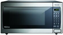 OPENED BOX Panasonic Stainless 1 6 Cu  Ft  Countertop Built In Microwave
