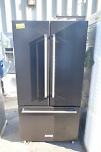 KitchenAid KRFC302EBS 36  Black Stainless French Door Refrigerator CD NOB  19949