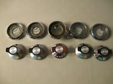 VINTAGE MAGIC CHEF STOVE REPLACEMENT BURNER KNOBS   SET OF 5   INCLUDES SPRINGS