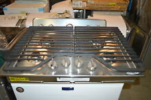 Whirlpool WCG51US0DS 30  Stainless Gas Cooktop 4 Burner NOB  20949
