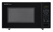 USED SHARP Carousel 1 1 Cu  Ft  1000W Countertop Microwave Oven SMC1131CB Black