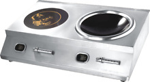 Induction Cooktop Countertop Concave Double 5000w 220 240V Commercial