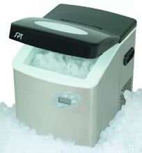 Portable Ice Maker with Digital Controls   Stainless Steel