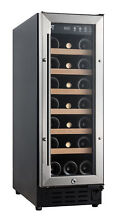 21 bottles wine cooler with wooden shelf