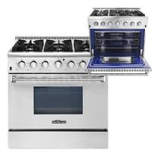 36  6 Burner Stainless Steel Gas Range Cooker Oven Cooktop Free Standing O6C3