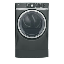 GE 8 3 cu ft Electric Dryer Steam Diamond Grey Energy Star Laundry GFD49ERPKDG