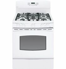 GE PGB910DETWW 30  White Freestanding 5 Burner Gas Range Oven NEW Daily Deal
