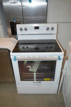 KitchenAid KFEG500EWH 30  White Freestanding Electric Range NOB T2  21768