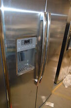GE GSE25HSHSS 36  Stainless Side By Side Refrigerator NOB  12958