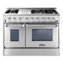 48  Professional Stainless Steel Dual fuel Range 2 Ovens Tool Cooktop SHRD4803U