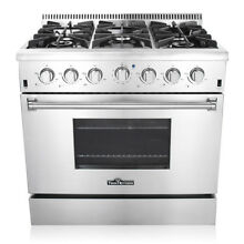 36  Professional Stainless Steel Gas Range with 6 Burners stove burner Kitchen