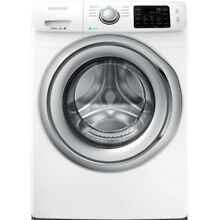 Samsung 4 2 cu  ft  Front Load Washer Machine Steam White  ENERGY STAR