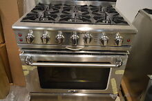 Capital CGSR366N 36  Pro Style Stainless Steel Natural Gas Range NOB New  13804