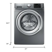 Front Load Washer 4 2 cu  ft Steam in Platinum  ENERGY STAR Stackable Free Ship