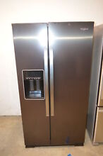 Whirlpool WRS588FIHV 36  Black Stainless Side by Side Refrigerator NOB T2  22912